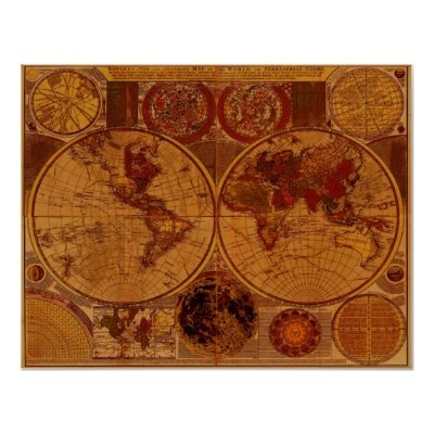 23 best old world maps images on pinterest antique maps old world 1780 old world map art poster gumiabroncs Gallery