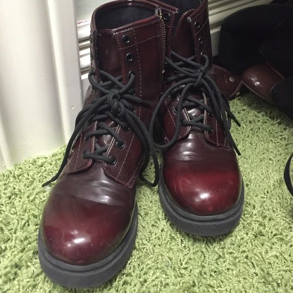 Mossimo Doc Martins look-a-likes NOT DOC MARTINS, zipper on the side. Very comfortable!! Mossimo Supply Co Shoes Combat & Moto Boots