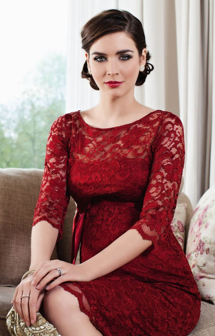 35 best gestante festa elegantes images on pinterest maternity a deeply dramatic shade of scarlet gives our best selling amelia lace maternity dress head ombrellifo Choice Image