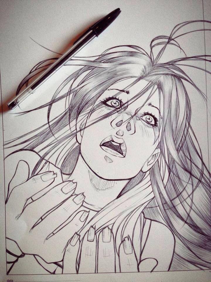 "Rigel ""Anedonia"" work in progress, ink phase."