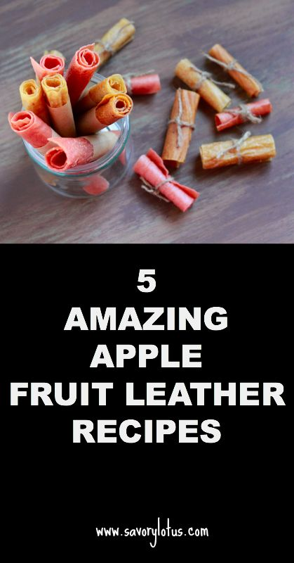 5 Amazing Apple Fruit Leather Recipes - savorylotus.com