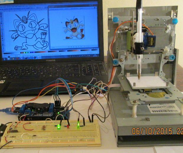 Mini cnc machine arduino based adafruit driver motor