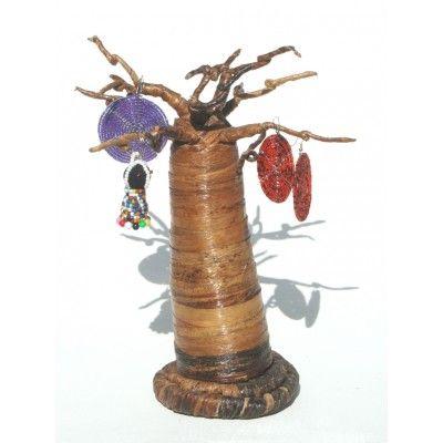 Baobab Tree Jewellery Holder - Banana leaf authentic handcrafted baobab tree - handmade in Kenya Africa