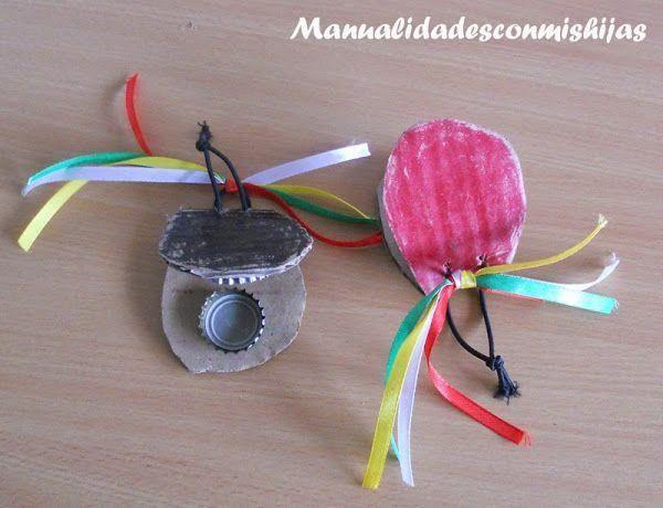 Castañuelas para niños ¡Una manualidad muy divertida para hacer en fiestas!