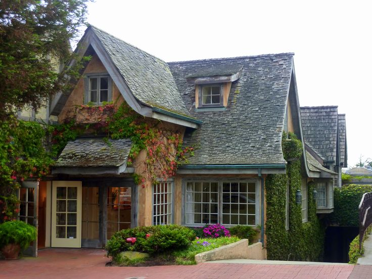 Quaint houses in Carmel-by-the-Sea, CA
