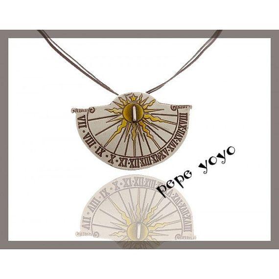 Sun clock handmade metalwork pendant by pepeyoyojewellery on Etsy