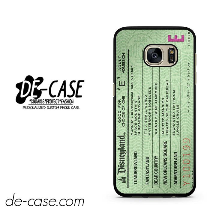 Green Disneyland Ticket DEAL-4862 Samsung Phonecase Cover For Samsung Galaxy S7 / S7 Edge