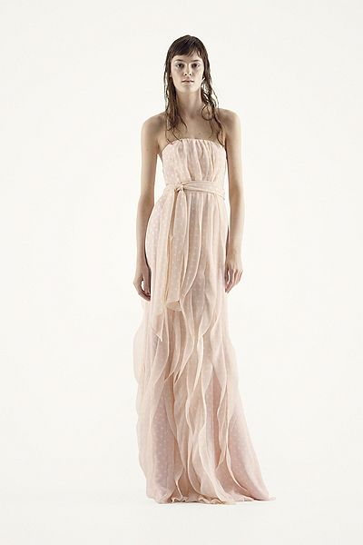 White by Vera Wang - MORE COLORS Strapless Chiffon Dress with Vertical Ruffles Style VW360219 In Store & Online $198.00  davidsbridal.com