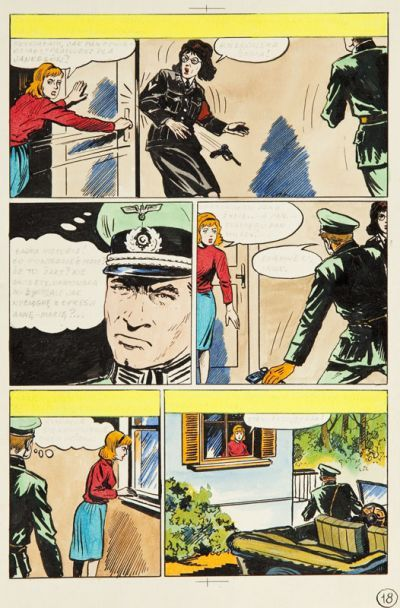 Mieczysław Wiśniewski (1926 - 2006) Kapitan Kloss, cz. XVI - Spotkanie na zamku, 1973 r., plansza komiksowa nr 18  Aukcja Komiksu i Ilustracji, DESA Unicum, 13 listopada 2014