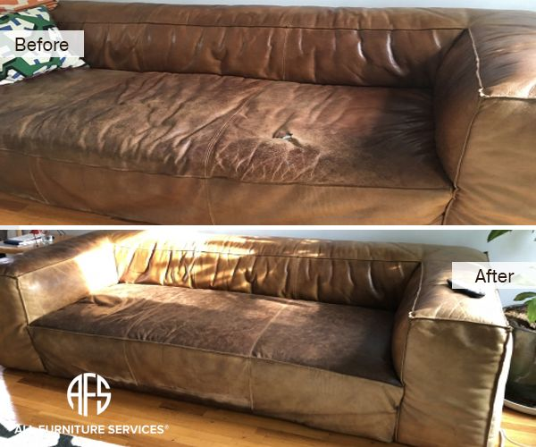 Furniture Leather Seat Repair Reupholstery Partial Change Color Dye Match Aniline Waxed Unprotected Finished Furniture Reupholstery Leather Furniture