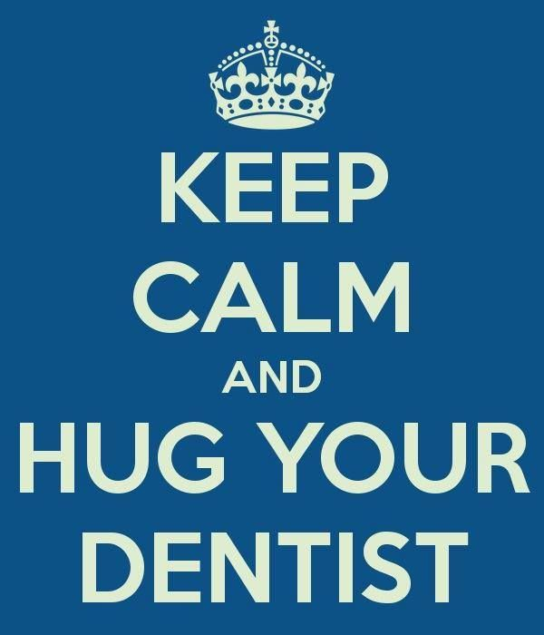 "Betty Cummins says to ""Keep Calm and Hug Your Dentist"" at https://www.facebook.com/SmilesDentalCenterBartlett?ref=stream_location=timeline  #Dentist #Hygienist"