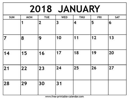 The 25+ best January 2018 calendar printable ideas on Pinterest - printable calendar pdf