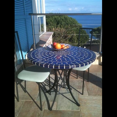 32 best tables en mosa que et fer forg images on pinterest wrought iron mosaic and mosaic art. Black Bedroom Furniture Sets. Home Design Ideas