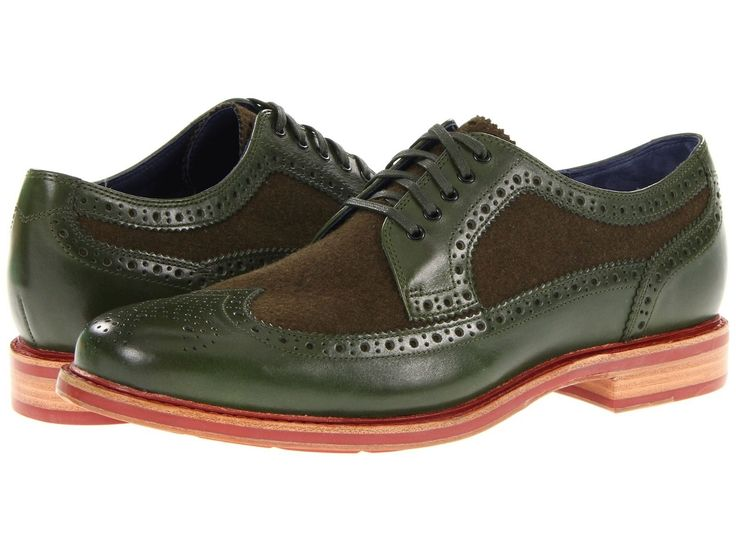 Cole Haan Cooper Square Wing Tip Oxford Leather Wool Shoes Mens 10 Green |  eBay
