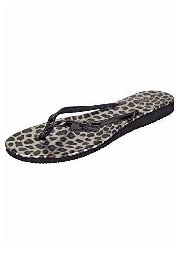 Capelli New York Zehensandale 'Wild Leopard', Groesse:37;farbe:grey combo - Sandalen für frauen (*Partner-Link)
