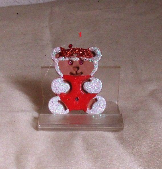 Orsetto e Cuore Santa klaus - Piccoli Gadgets in Terracotta per varie Celebrazioni di JoySaccoART su Etsy