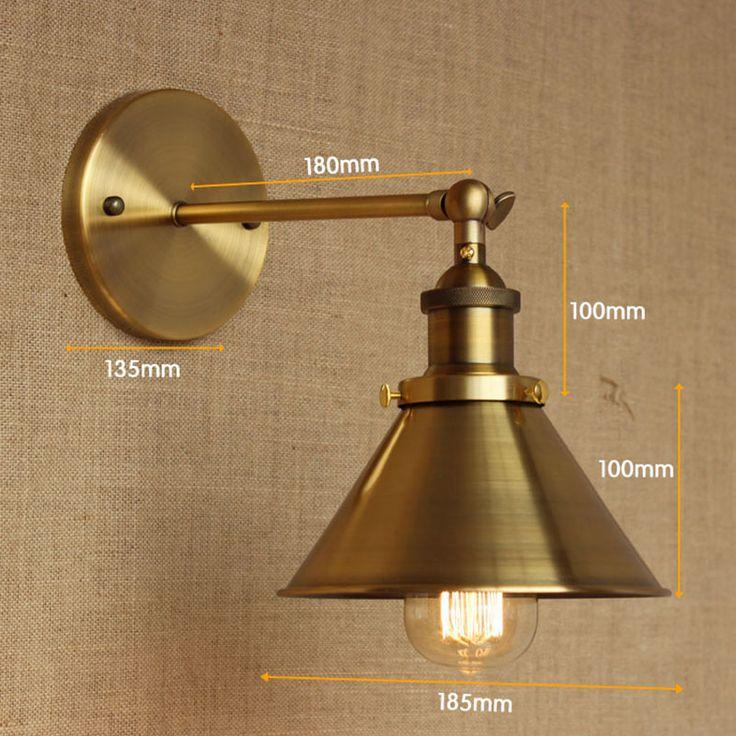 Современный ЛОФТ Бронзовый металл страна настроить настенный светильник для Бар Ванная Комната спальня исследование столовая фойе Тщеславие Огни E27 110-220 В