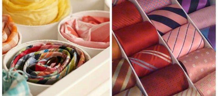 Como organizar corbatas
