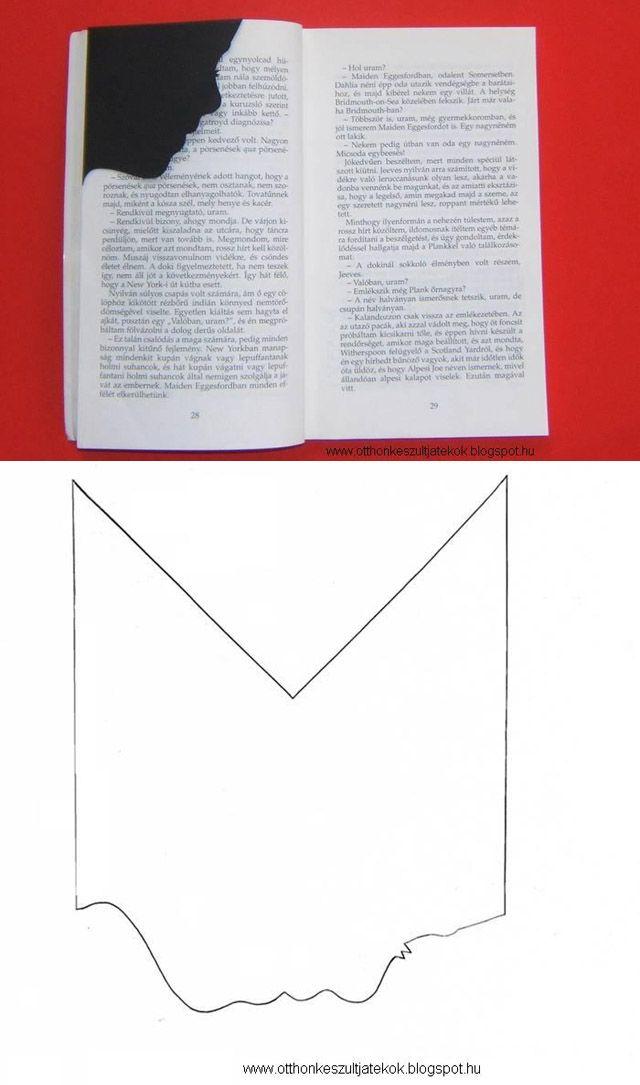 Día del libro. Marca páginas silueta de cara - Corner bookmark