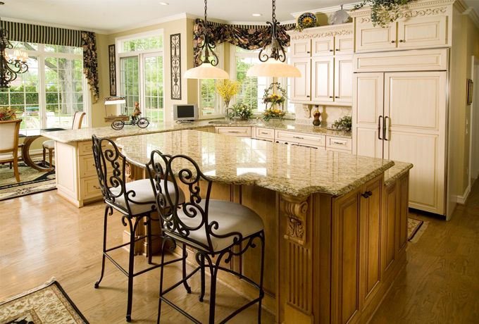 Scroll Work On Cabinet Iron Work Chairs Countertop Giallo Ornamental Kitchen Ideas