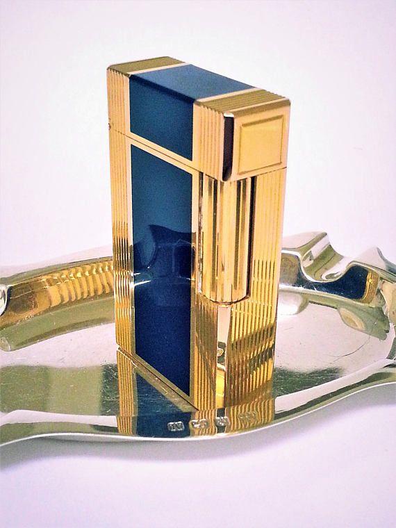 S. T. Dupont Lighter  WINDSOR  Gold & Lacquer de Chine