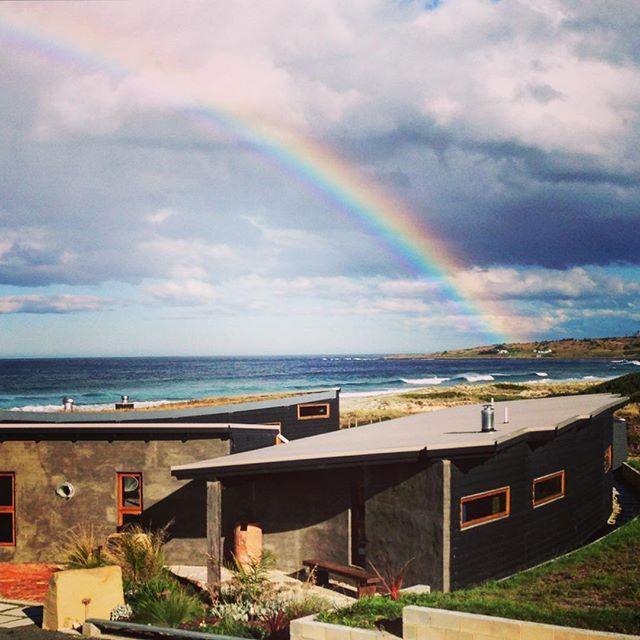 Today's catch! #magicmoments #lovetassie #rainbow #lovelyrain #malibuonthebeachtas #greateasterndrive #discovertasmania #tasmania