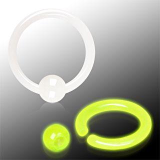 Piercing anneau phosphorescent