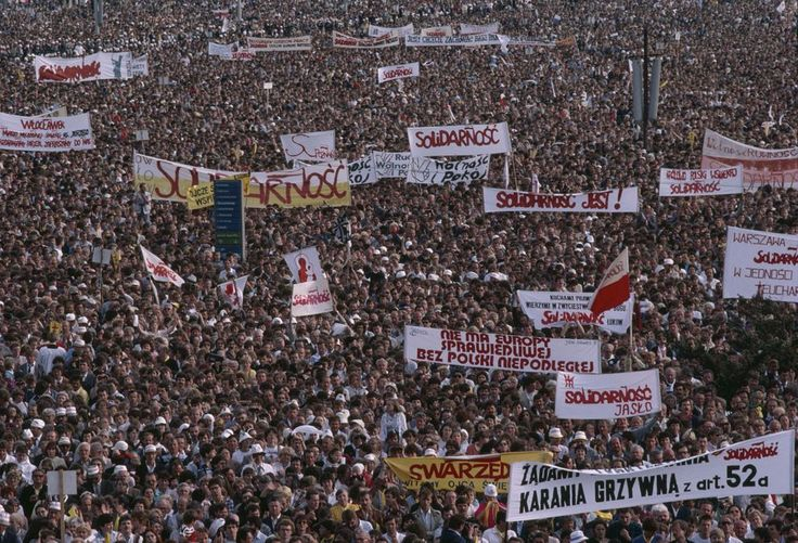 On August 31, 1980, the trade union Solidarity was founded at the Lenin Shipyards in Gdansk, Poland. The Solidarity movement helped lead to the fall of communism in Eastern Europe.