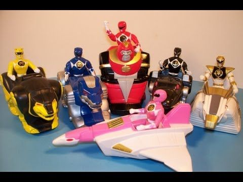 1994 MIGHTY MORPHIN POWER RANGERS THE MOVIE SET OF 5 McDONALD'S HAPPY MEAL MOVIE TOY'S VIDEO REVIEW - YouTube
