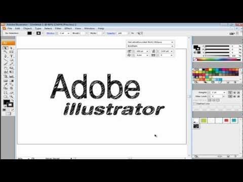 How to create a sketch effect in your typography in Adobe Illustrator - YouTube