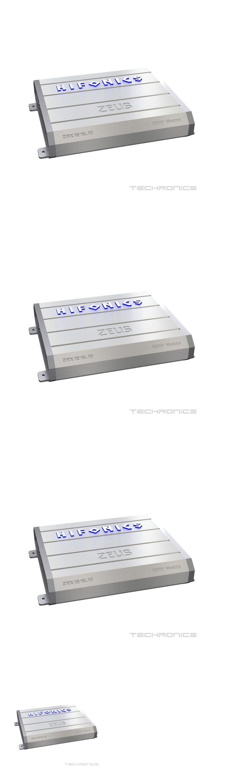 Car Amplifiers: Hifonics Zrx1216.1D 1200W Monoblock 1 Channel Zeus Class D Car Audio Amplifier -> BUY IT NOW ONLY: $129.95 on eBay!