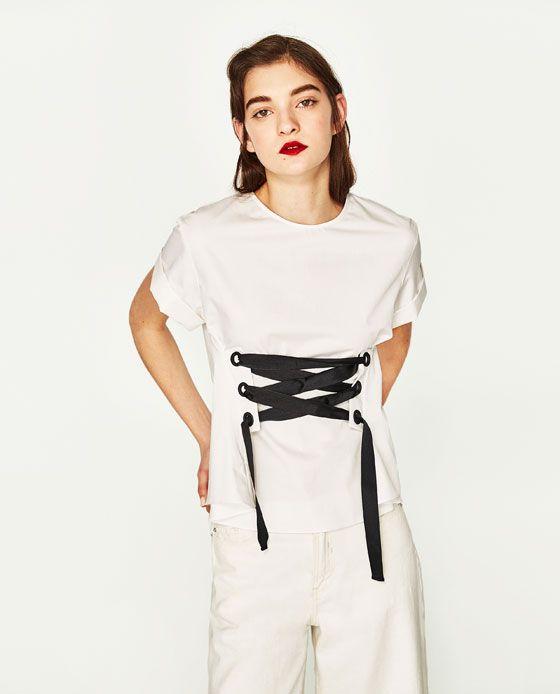 Image 3 of CORSET TOP from Zara