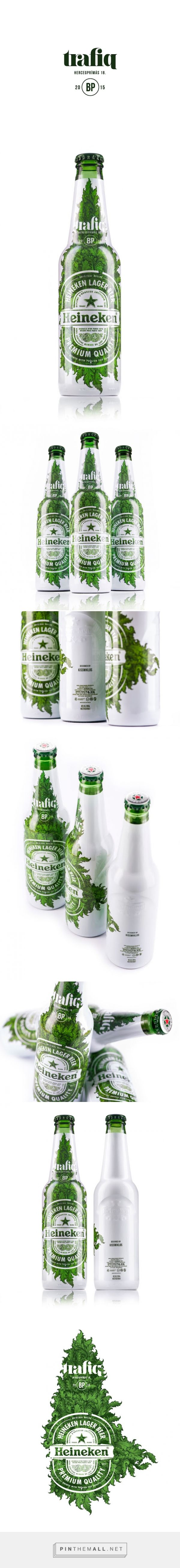 Trafiq Club Heineken Limited Edition Packaging designed by kissmiklos ​ - http://www.packagingoftheworld.com/2015/10/trafiq-club-heineken-limited-edition.html