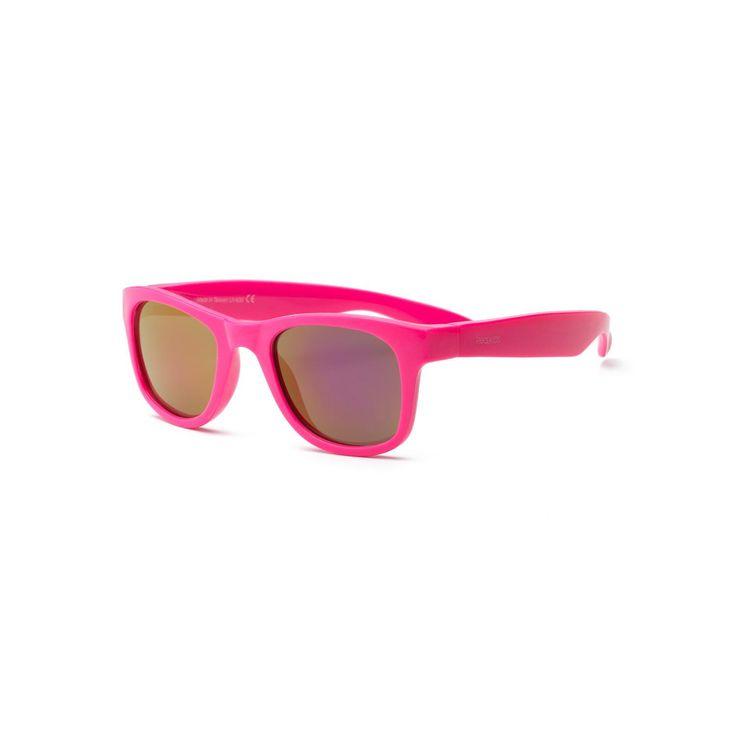 Real Kids Neon Pink Flex Fit Pink Mirror Lens 7+ Sunglasses
