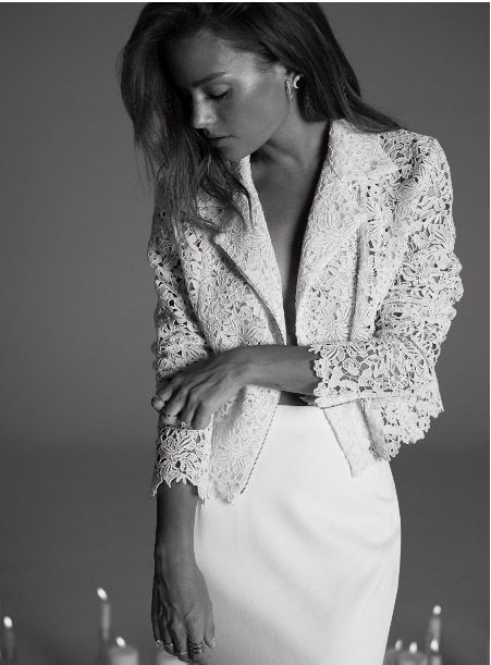 Wedding Dress : Collection Rime Arodaky 2017 // Lace Jacket