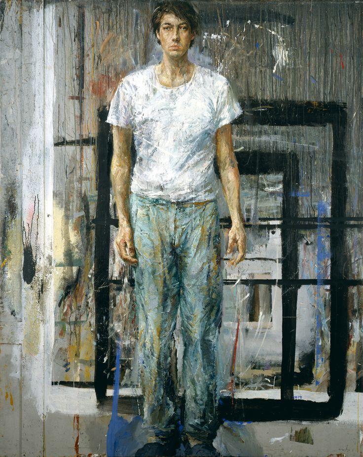 Velasco Vitali  AUTORITRATTO, 1988. Oil on board, 251 x 200 cm