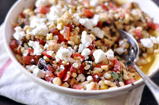 Herbed Sweet Corn and Tomato Salad | 25 Delicious Summer Corn Recipes