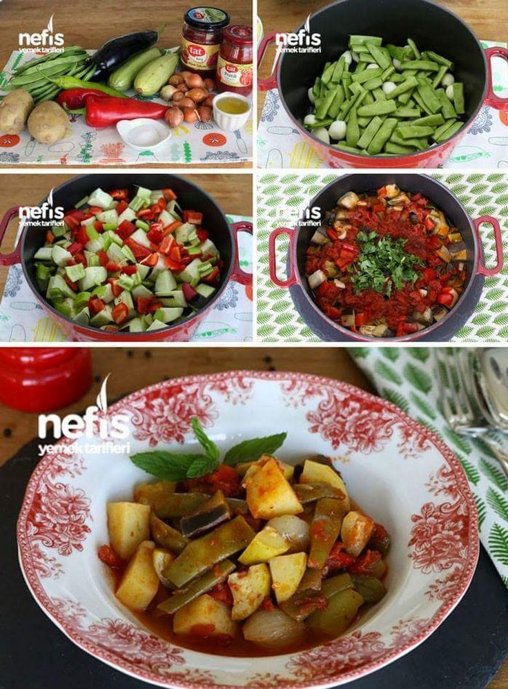 Yaz Türlüsü Tarifi Malzemeler 2 adet kabak 2 adet patlıcan 2 adet patates 15-20 adet arpacık soğan 2 diş sarımsak 200 g taze fasulye 2 adet kapya biber ... - f. özbağ - Google+