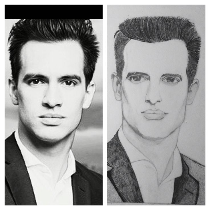 Brandon Urie, Panic at the disco, portrait, pencil drawing