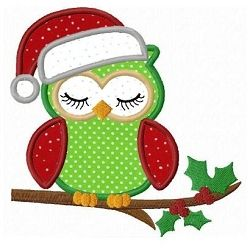 Christmas Owl Applique - 3 Sizes! | Christmas | Machine Embroidery Designs | SWAKembroidery.com Fun Stitch