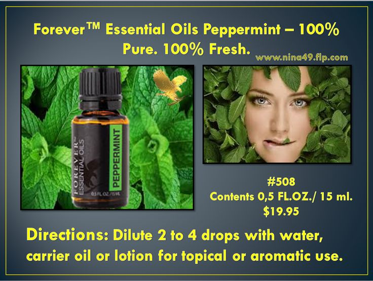 Forever Living provides nature's purest Peppermint Oil to invigorate and refresh. Order at: www.nina49.flp.com