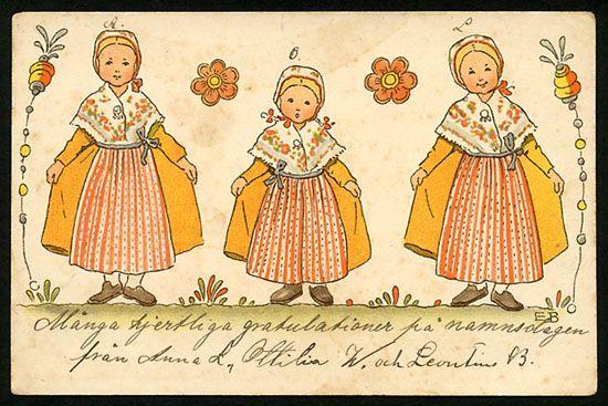 Nordic Thoughts: Vintage Elsa Beskow postcards