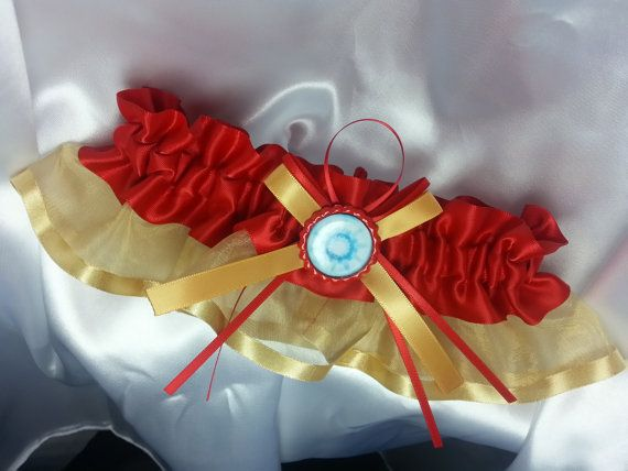 Iron Man Themed Wedding Garter by AussieWeddingGarters on Etsy, $25.00