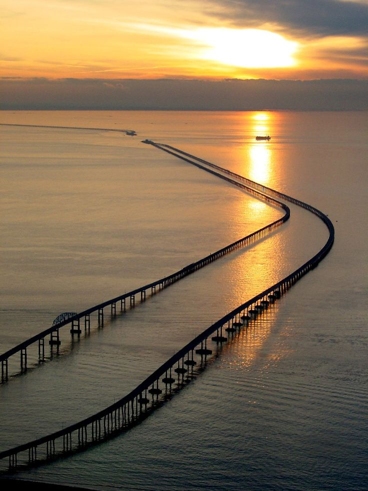 Chesapeake Bay Bridge-Tunnel. I crossed this in 1980 on an amazing family holiday of Canada and North America.