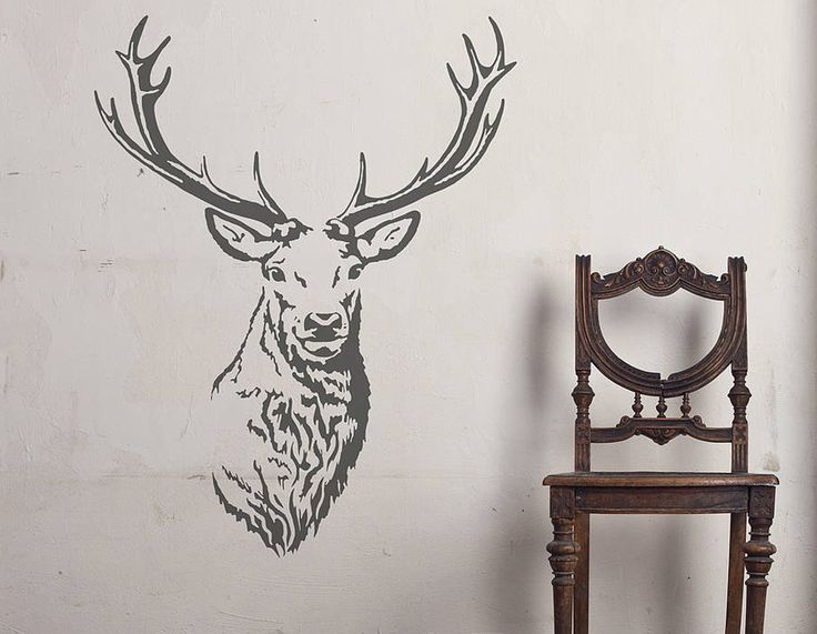 This stag with a full set of antlers will add a stunning touch to any room's decor.