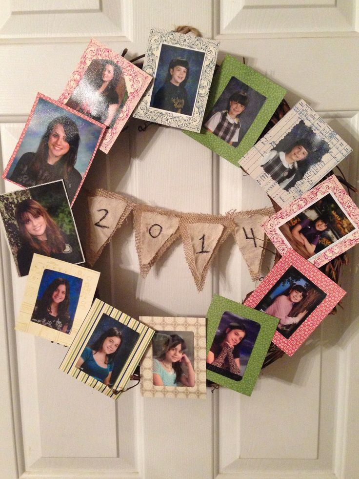 OUR CRAFTY MOM: Graduation Photo Wreath #graduation #diy #crafts #graduationdecorations