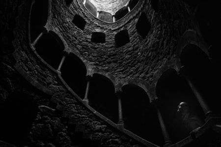 The Initiation. #sintra #portugal 2017. Click for an original, limited edition, signed, fine art print on Hahnemühle high quality paper. #fineart #print #deco #photography #blackandwhite #monochrome #travel #initation #well #pierrepichot