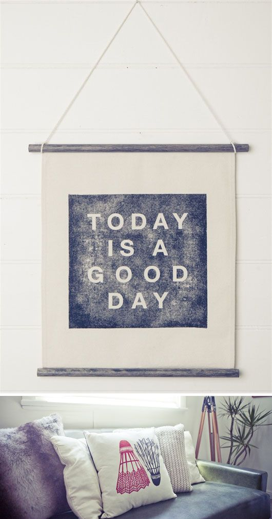 today is a good day, from white horse homeThoughts, Good Day, Wall Hanging, Quotes, Goodday, Today, White Horses, Daily Word, Banners