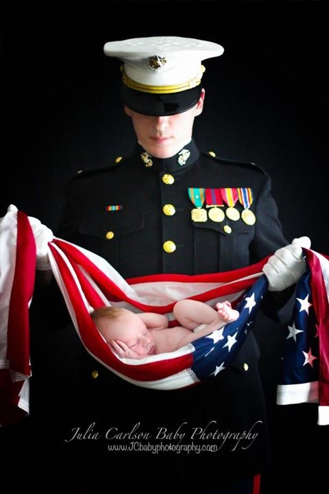 marine corps newborn pictures | Proud Marine Corps daddy for the professional newborn photographer ... US Marine Corps Help celebrate a great career in the US Marine Corps Personalized custom Military rings : http://www.military-rings.com/marine-corps-rings/  #USMC #USMarines #USMilitary