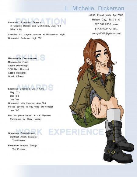 L. Michelle Dickerson. #resume #design #infographic #resugraphic
